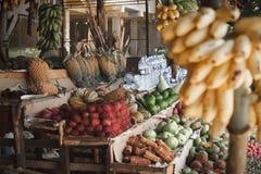 Aziatische markt, exotische vruchten stock afbeelding