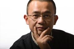 Aziatische medio-volwassen mens Royalty-vrije Stock Foto's