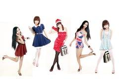 Aziatische meisjes royalty-vrije stock afbeelding