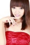 Aziatische meisjesclose-up Royalty-vrije Stock Fotografie