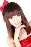 Aziatische meisjesclose-up Stock Afbeeldingen