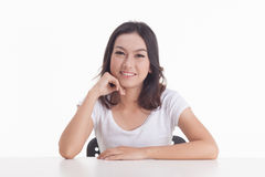 Aziatische meisjesportretten Royalty-vrije Stock Afbeelding