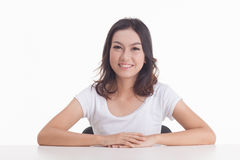 Aziatische meisjesportretten Stock Afbeeldingen