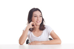 Aziatische meisjesportretten Stock Fotografie