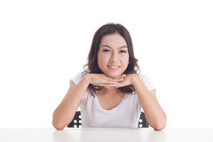 Aziatische meisjesportretten Stock Foto