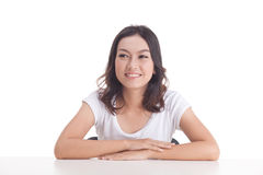 Aziatische meisjesportretten Stock Foto's