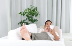 Aziatische mens Stock Foto's