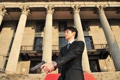 Aziatische Mens met een Kanon 2 royalty-vrije stock foto's