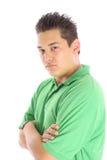 Aziatische mens op wit stock foto