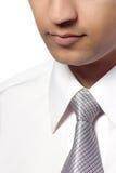 Aziatische mens in overhemd en band Royalty-vrije Stock Foto's