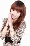 Aziatische modelglimlach Stock Afbeeldingen