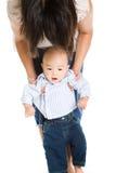 Aziatische moeder en baby Stock Afbeelding