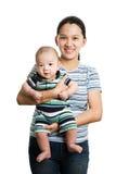 Aziatische moeder en zoon Royalty-vrije Stock Foto