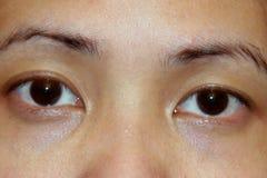 Aziatische ogen Royalty-vrije Stock Foto's