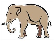 Aziatische olifant Stock Afbeelding