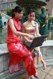 Aziatische onderneemster stock foto's