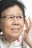 Aziatische Oude Dame Royalty-vrije Stock Foto's