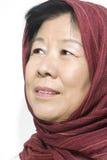 Aziatische Oude Dame Royalty-vrije Stock Afbeelding