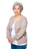 Aziatische oude vrouw Royalty-vrije Stock Afbeelding