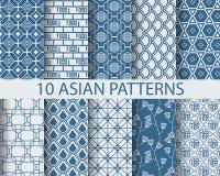 Aziatische patronen Stock Afbeelding