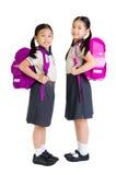 Aziatische primaire studenten royalty-vrije stock foto's