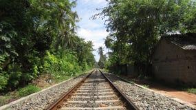 Aziatische reis - Spoorweg in Sri Lanka Royalty-vrije Stock Foto's