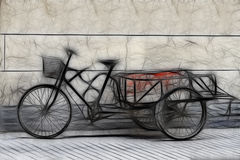 Aziatische Riskshaw stock illustratie