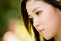 Aziatische schoonheid openlucht royalty-vrije stock afbeelding