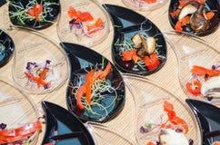 Aziatische schotelvoorbereiding Royalty-vrije Stock Afbeeldingen