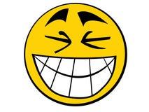 Aziatische smiley Stock Afbeelding