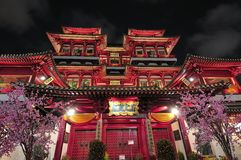 Aziatische stijl Boeddhistische tempel in Singapore Royalty-vrije Stock Afbeelding
