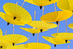 Aziatische stijlparaplu stock afbeelding