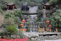 Aziatische stijltuin Royalty-vrije Stock Afbeeldingen