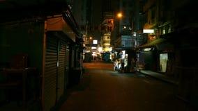 Aziatische straatmarkt stock videobeelden