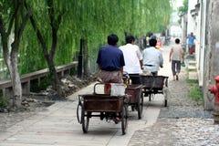Aziatische straatscène Royalty-vrije Stock Afbeelding