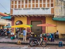 Aziatische Straatventer of Box die Roti verkopen Royalty-vrije Stock Afbeeldingen