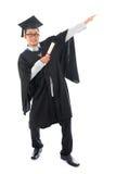 Aziatische student grad royalty-vrije stock foto