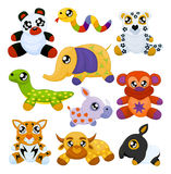 Aziatische stuk speelgoed dieren Royalty-vrije Stock Foto