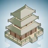 Aziatische Stupa vector illustratie