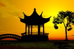 Aziatische Tempel Royalty-vrije Stock Afbeelding