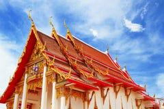 Aziatische tempel en mooie hemel Stock Fotografie