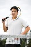 Aziatische tennisspeler Royalty-vrije Stock Foto