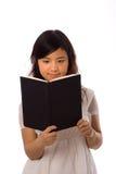 Aziatische tiener in Wit Stock Foto