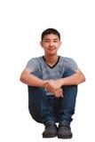 Aziatische tienerjongen Stock Foto's