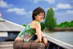 Aziatische toerist stock afbeelding