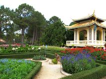 Aziatische tuin Stock Foto's