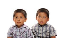 Aziatische tweelingen royalty-vrije stock afbeelding