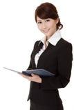 Aziatische uitvoerende vrouw Stock Afbeelding