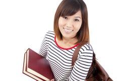 Aziatische universitaire student Royalty-vrije Stock Afbeelding