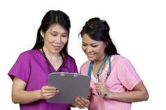Aziatische verpleegster Stock Afbeelding
